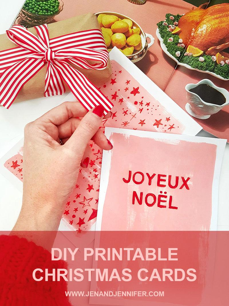 DIY Christmas Cards from Jenandjennifer.com