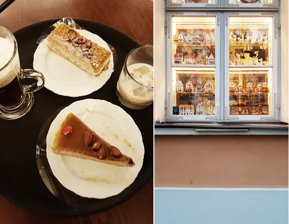The most delicious pumpkin cheesecake from Cafe Maiasmokk. The oldest cafe in Estonia.