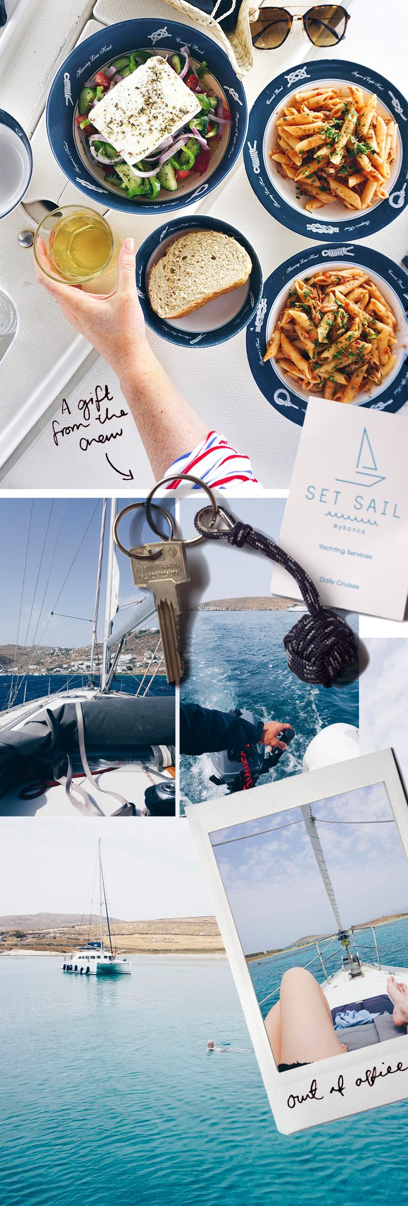 Our Boat tour around Mykonos