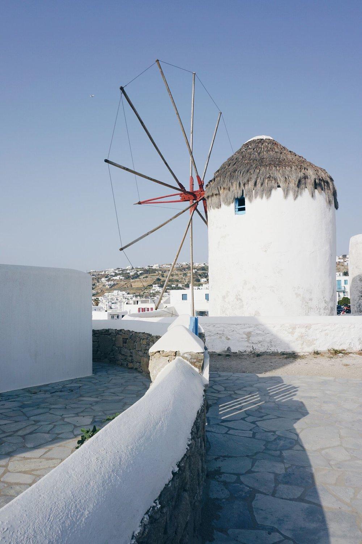 The Famous windmills of Mykonos
