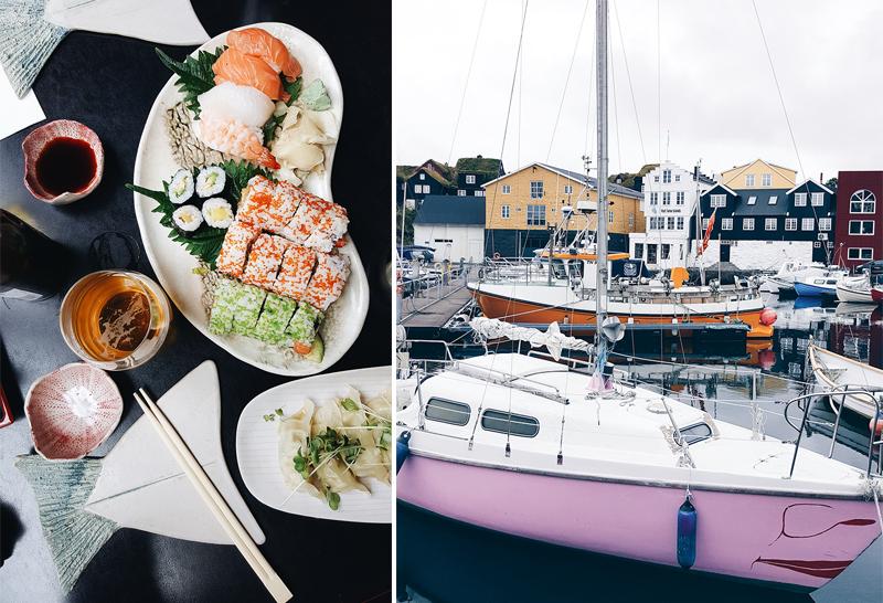 Ettika Sushi and Torshavn Harbour