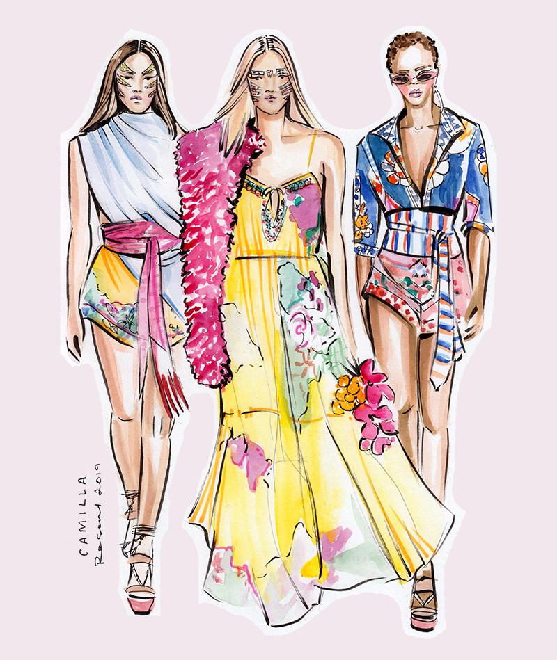 Sydney Fashion Week Illustrations Resort 2019 Jen And Jennifer Illustration