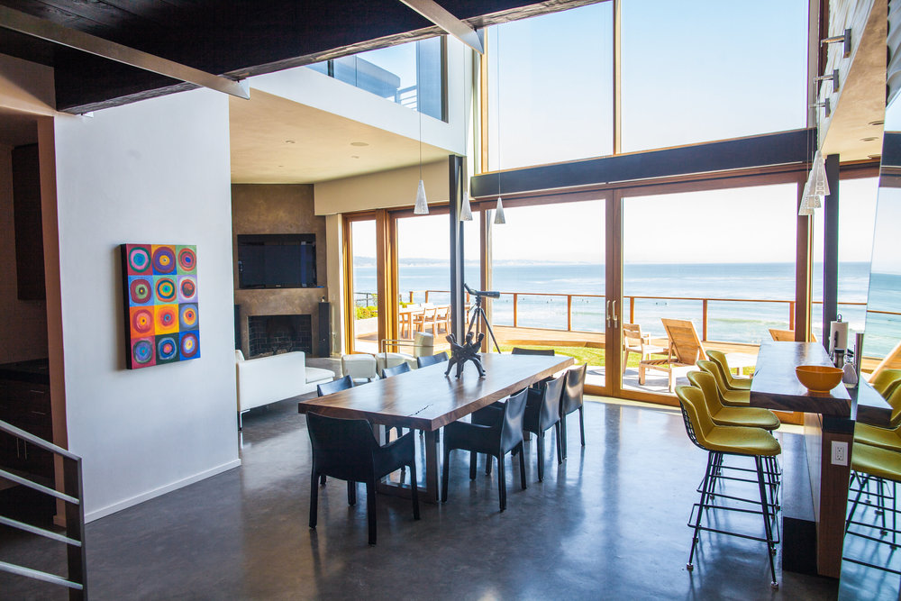 kitchen ocean view capitola california house