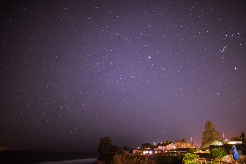 ocean view opal cliff nights sky