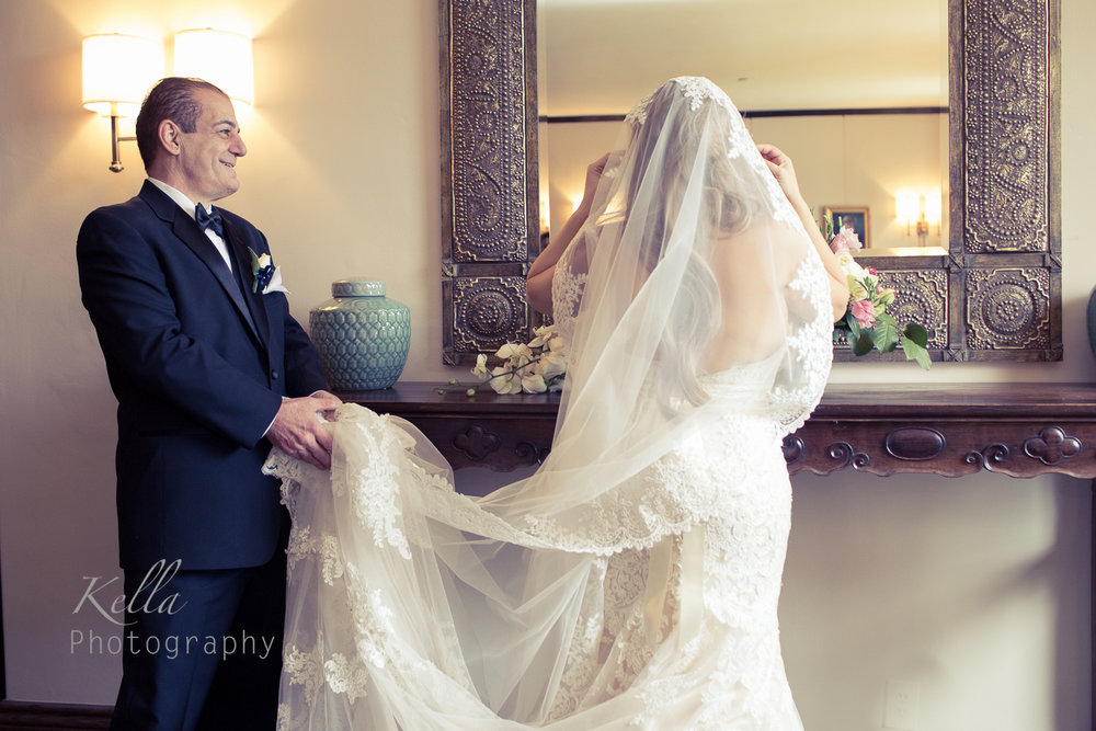 Winter wedding Altadena Town & Country Club
