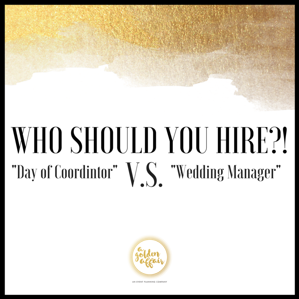 "Why you should hire a ""Wedding Manger"" and not a ""Day of"" Coordinator"