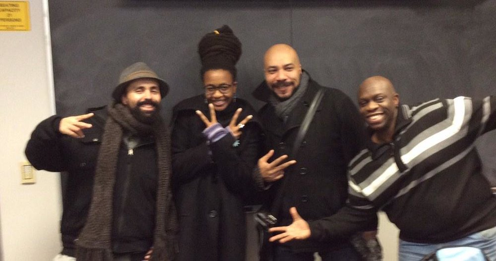 Gabriel Teodros, Nnedi Okorafor, John Jennings and Stacey Robinson at University of Buffalo, New York. February 19, 2015.