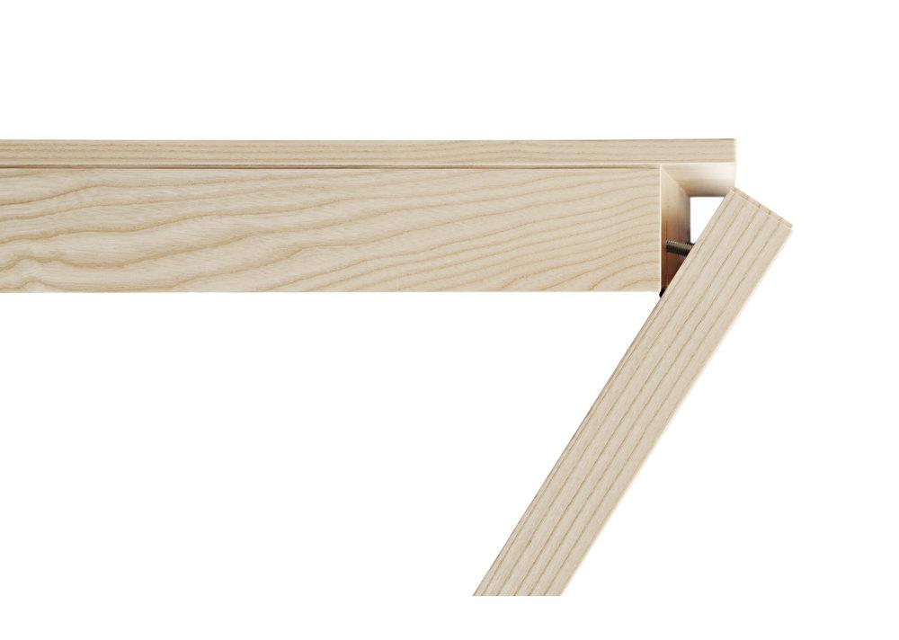 Taittojalkapöytä OLA - Suunniteltu ja valmistettu Espoossa  Design: Ola Kukkasniemi  Materiaalivaihtoehdot: Saarni, tammi, koivu sekä laminaatti  Mitat: 1400x700 mm  Myynti ja markkinointi: Arktis Oy  www.arktis.fi