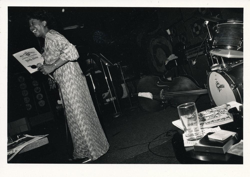 Betty Carter receiving award, Los Angeles, ca 1979. (1/2)