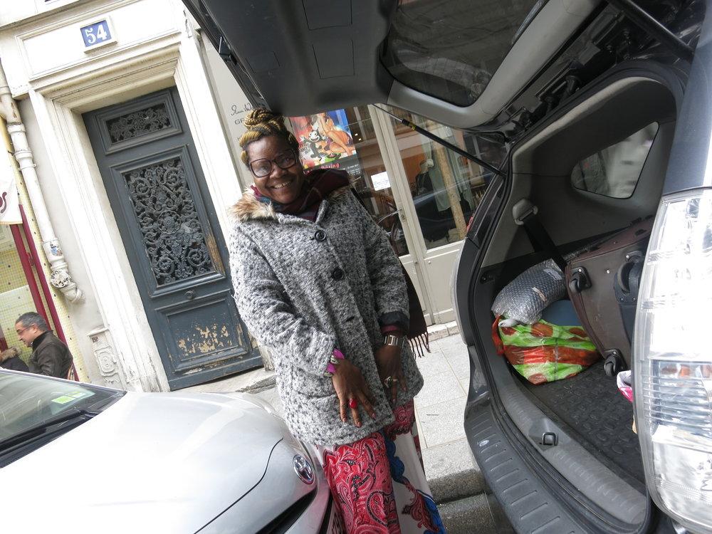 Charlotte, taxiste extraordinaire. Paris, March 17 2017.