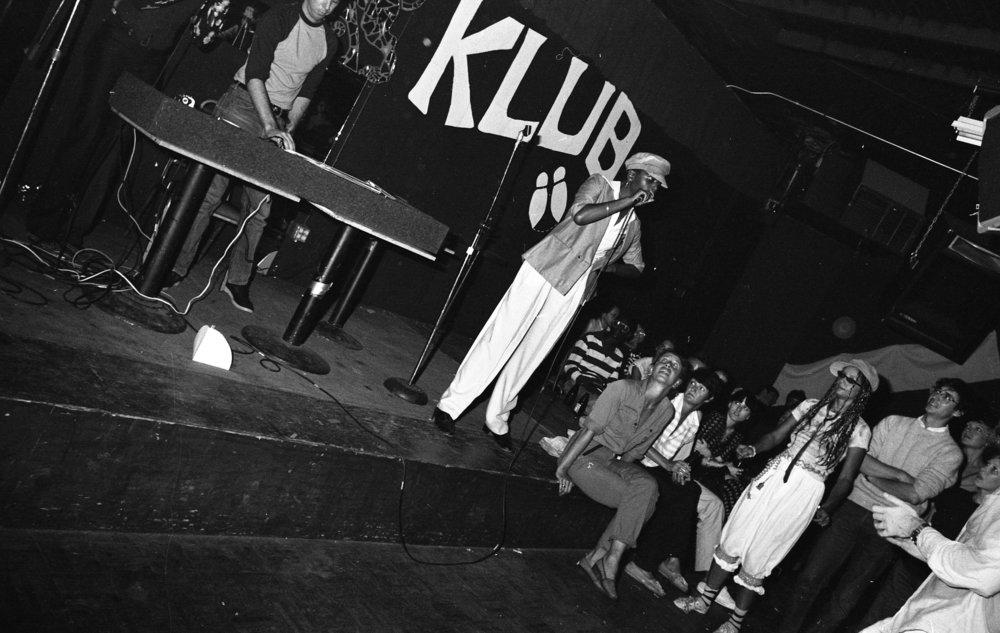 Rap contest, On Klub, Los Angeles, ca. 1979.