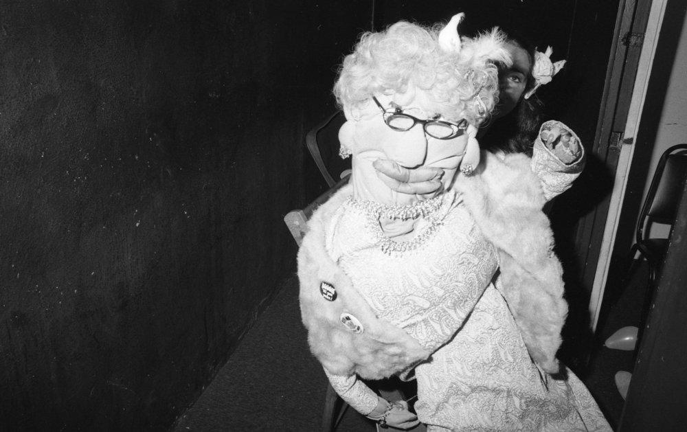 Comedian Karen Hartman, Comedy Store, Los Angeles, ca. 1980