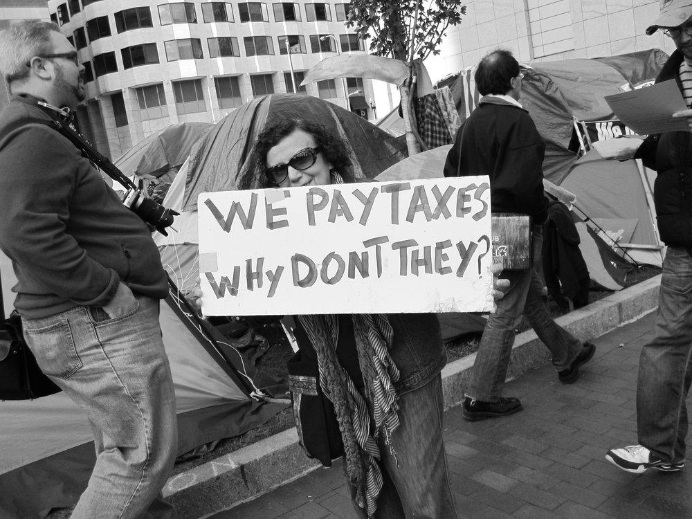 Occupy Boston, Dewey Square, October 16, 2011.