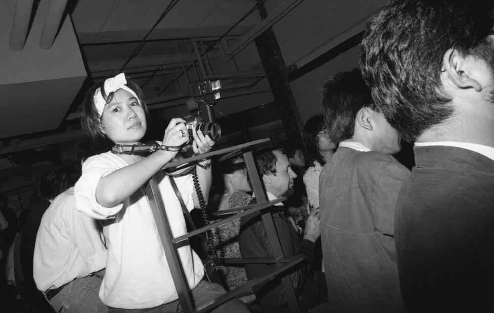 Harold Budd performance, audience, Tokyo, 1983.