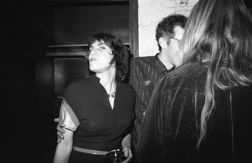 Los Angeles, ca. 1980. Christine Rush backstage at the Whisky with Tim Barrett.