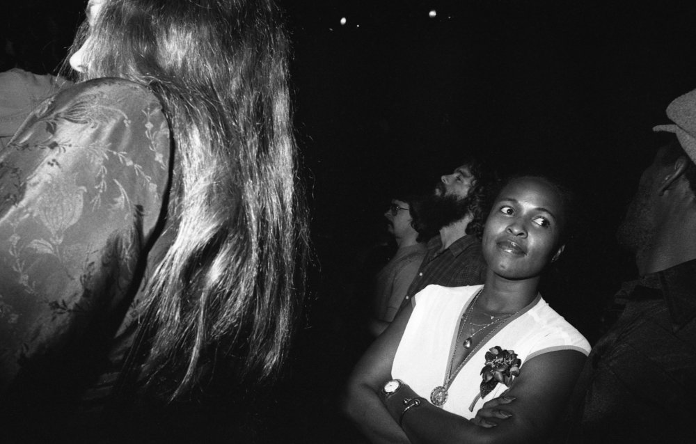 Audience at reggae concert, Los Angeles, about 1980.