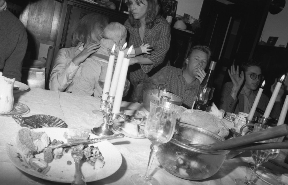 Thanksgiving at Gene Bowen's house, Fillmore, California, 1981.