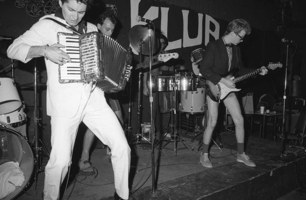 Billy Sheets and his band, Undercover, at the On Klub, Los Angeles, about 1981.