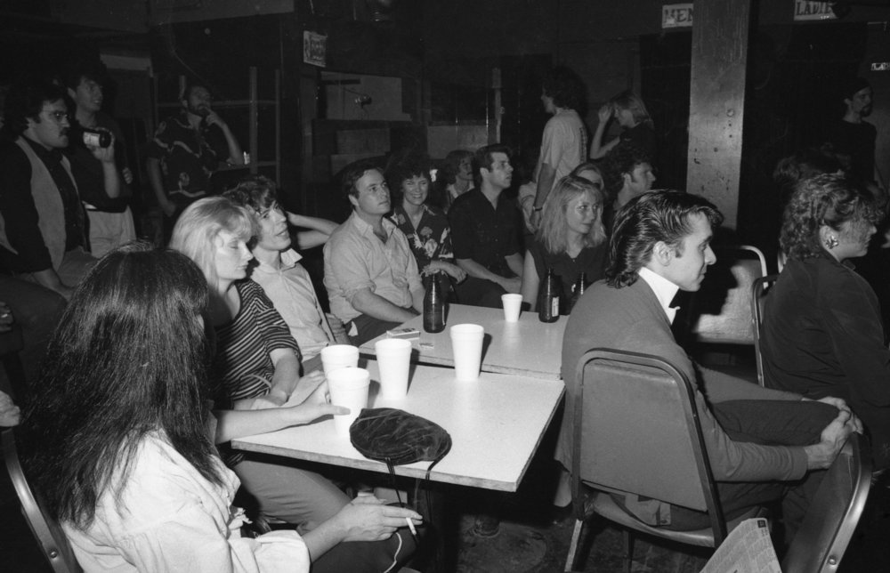 Audience at On Klub, Los Angeles, about 1981.