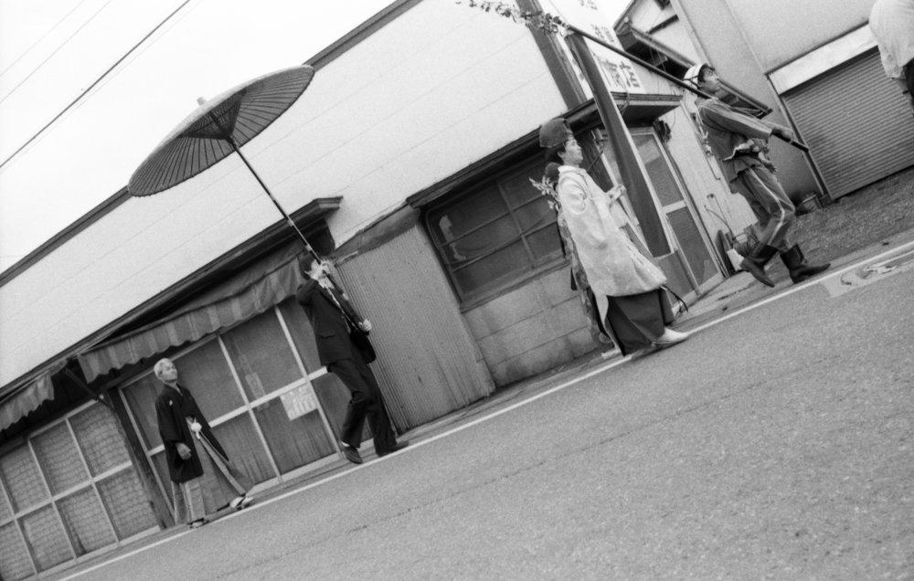 Shinto procession, Gotemba-shi, Japan, 1988. (2/3)