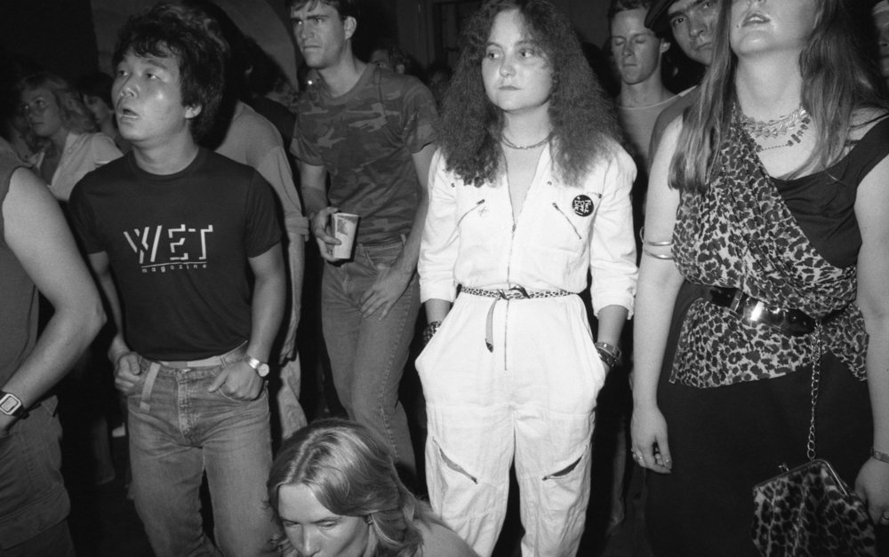 Audience at Al's Bar, Los Angeles, summer, 1981. (1/2)