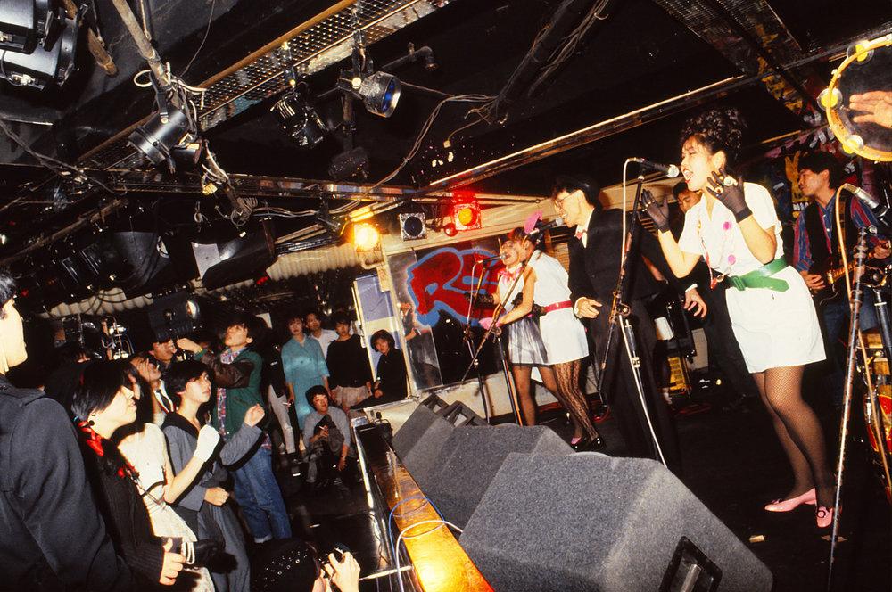 Scooters performing at Tsubaki House, Tokyo, September, 1983.