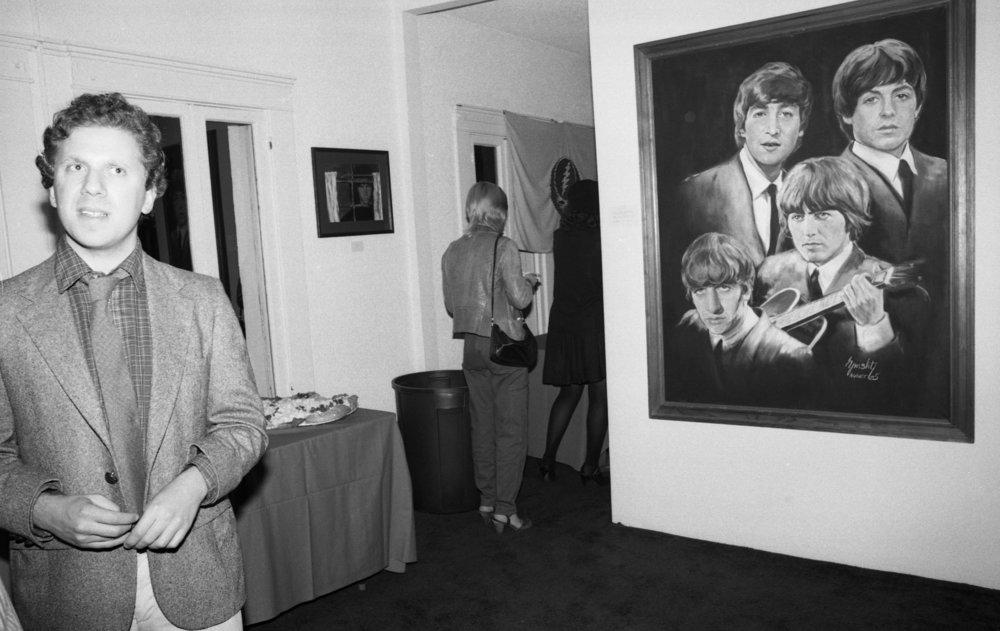 Gallery opening. Los Angeles, about 1981.