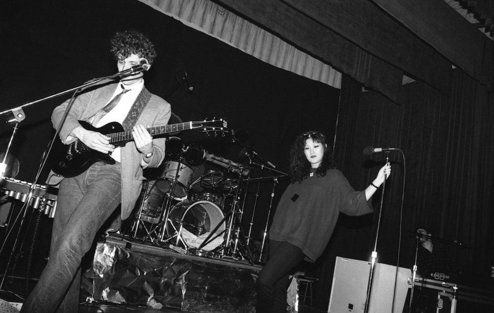 Fibonaccis performing at the Ukrainian Cultural Center, Los Angeles, 1982. (1/7)