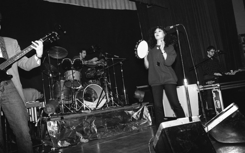 Fibonaccis performing at the Ukrainian Cultural Center, Los Angeles, 1982. (5/7)