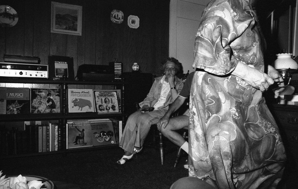 Chez Nixon, Burbank, California, about 1979.