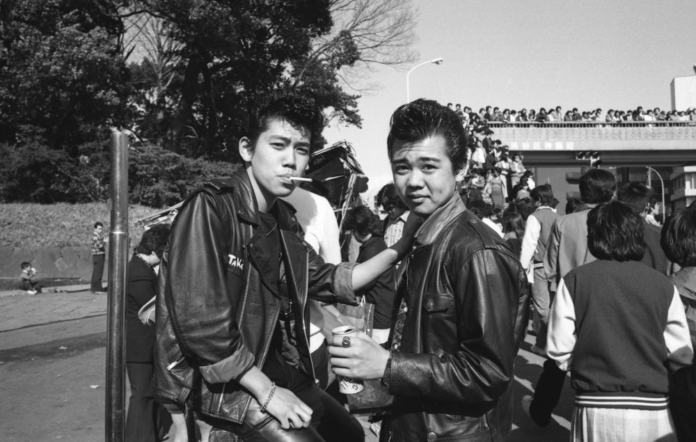 Rokabiri-zoku, Harajuku, Tokyo. April, 1980. (3/3)