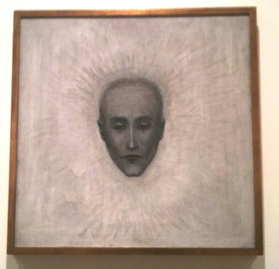 Florine Stettheimer,  Portrait of Marcel Duchamp , 1923-1926. Michele and Donald D'Amour Museum of Fine Arts/Estate of Ettie and Florine Stettheimer.