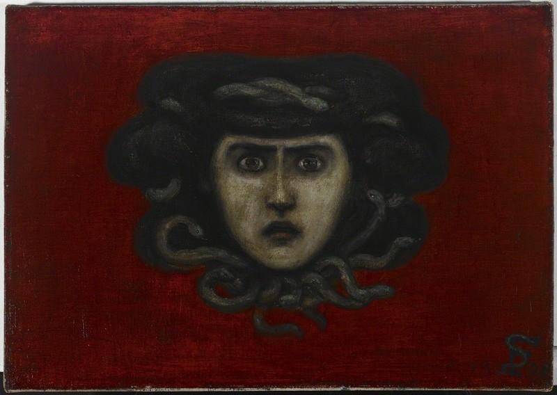 Florine Stettheimer,  Head of Medusa (Head of Ettie Stettheimer as Medusa) , 1908. Avery Library, New York.