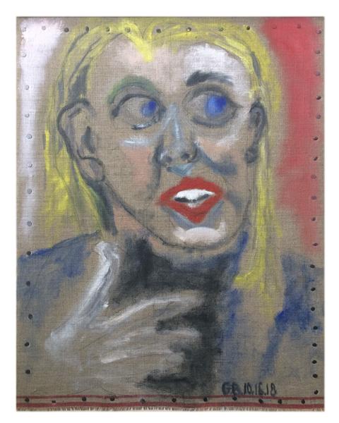 Gerard Brane,  Portrait of Elizabeth Holmes: Looking Up,  2018
