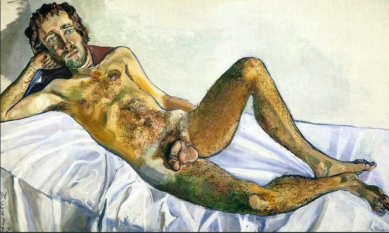 Alice Neel,  John Perreault , 1972. Whitney Museum of American Art, New York.