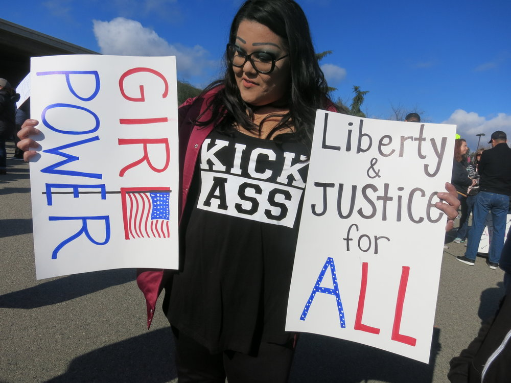 Women's March participant, Fresno CA, Jan 20 2018