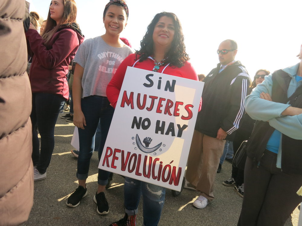 Women's March participants, Fresno CA, Jan 20 2018