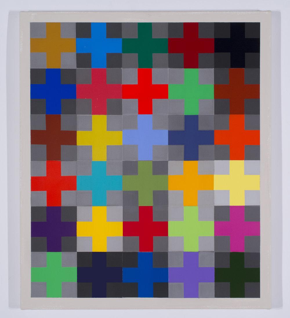 """burnished acrylic on canvas, 26"""" x 22"""""""