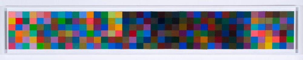 """Sedona , oil on canvas, 12"""" x 90"""" (ten panels framed)"""
