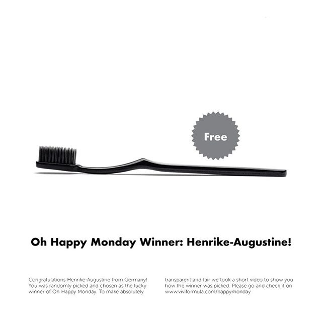 Congratulations @henrikegstn from Germany! You was randomly picked and chosen as the lucky winner of Oh Happy Monday. To make absolutely transparent and fair we took a short video to show you how the winner was picked. Please go and check it on www.viviformula.com/happymonday