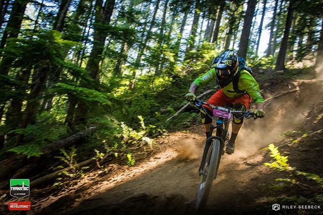 @nrquinner pinning the moon dusted steeps on Day 5 Revelstoke. // @transbcenduro #transbcenduro #mtb #enduro #revelstoke