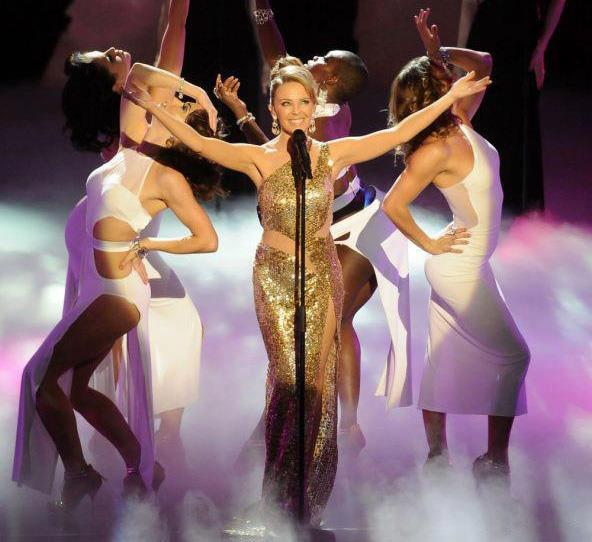 KYLIE MINOGUE on the Queen's Royal Variety Show