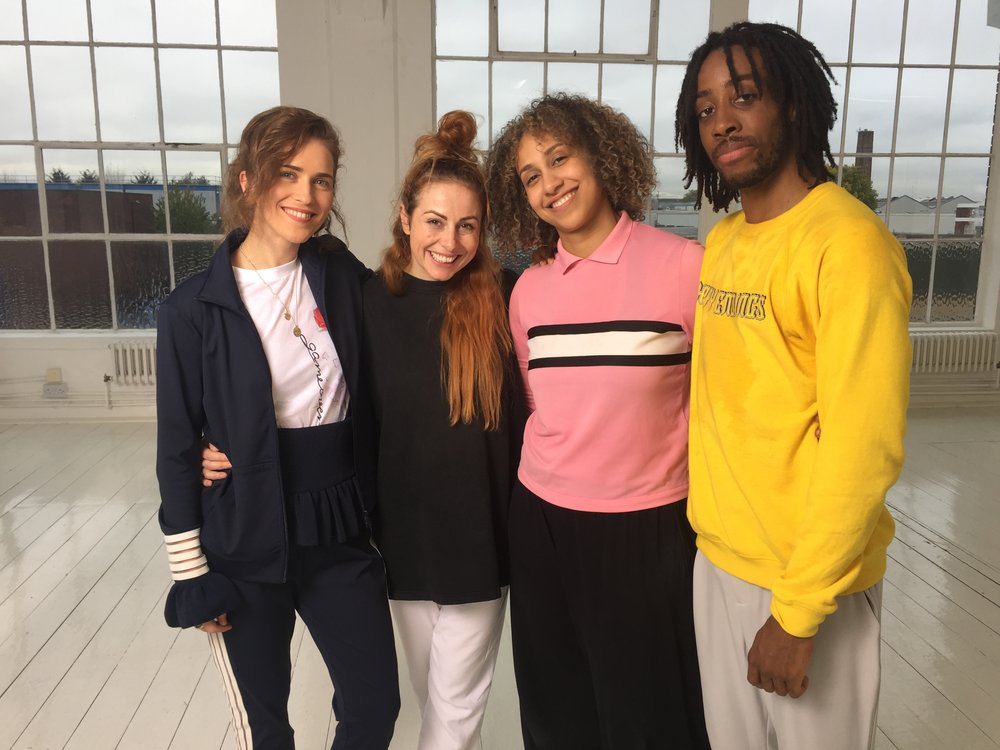 Choreographer SARA GORDON on set with Rae Morris & the dancers for the 'Do It' dance music video