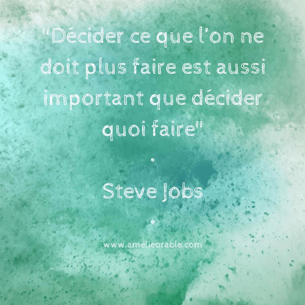 Les choses à ne plus faire - Steve Jobs
