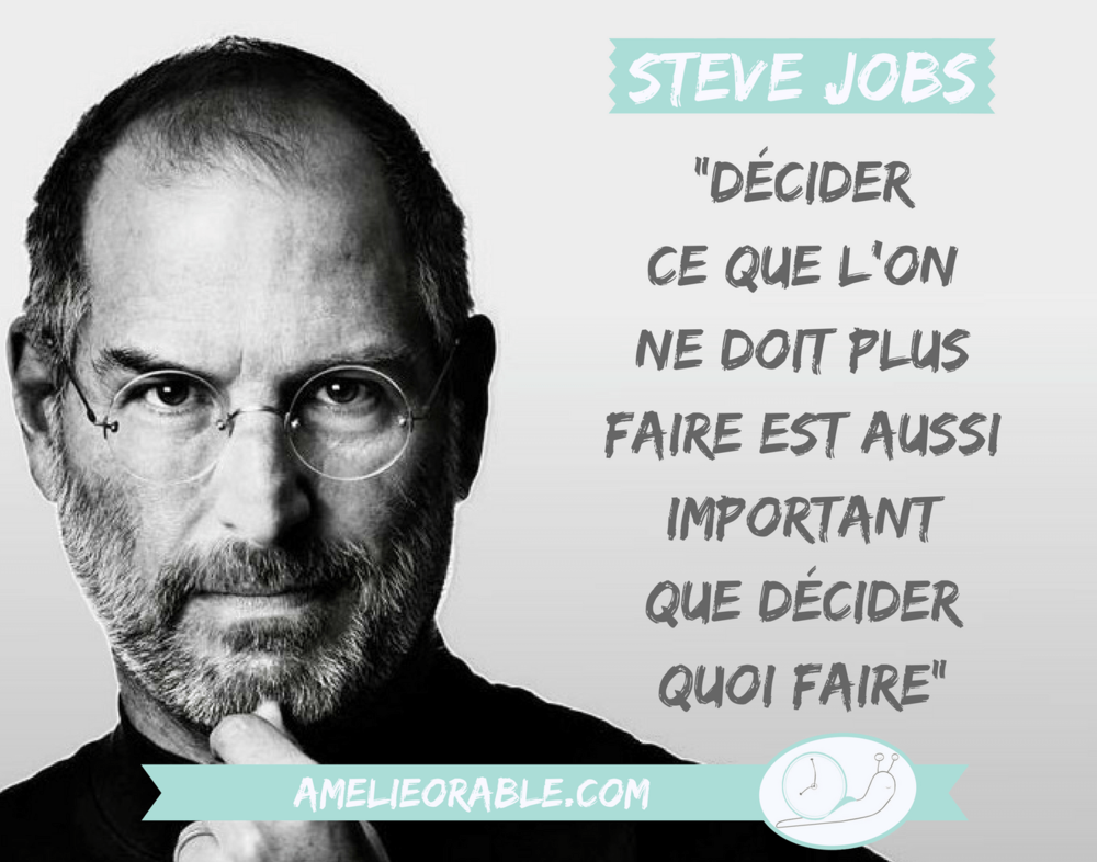 Not to do list - Ce que l'on ne doit pas faire - Steve Jobs