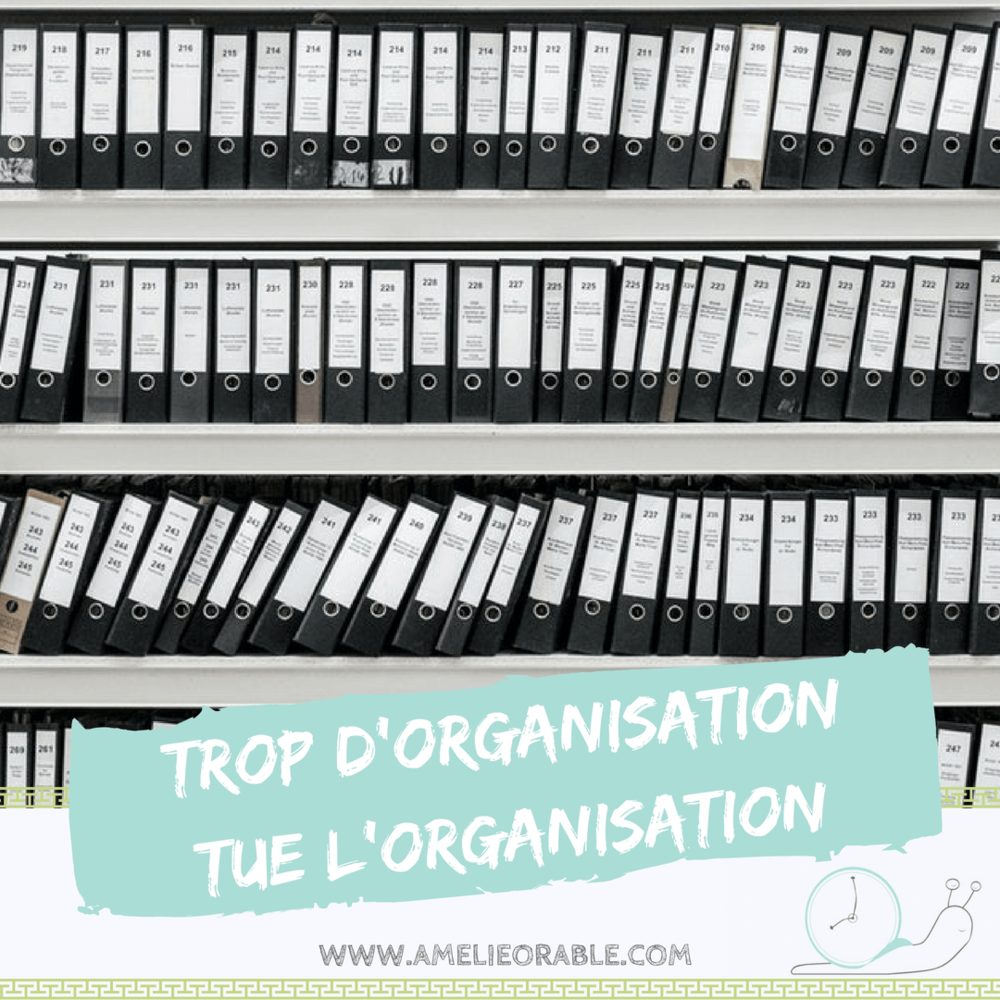 trop d'organisation tue l'organisation