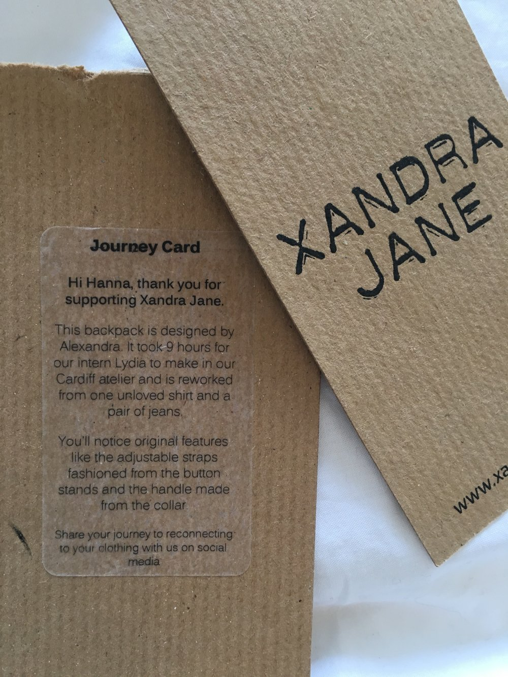 xandra jane design flor and cesta review journey card