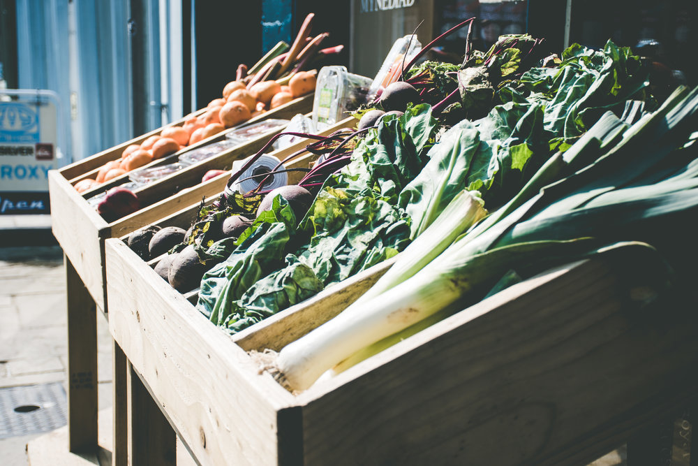 farmshop vegetables