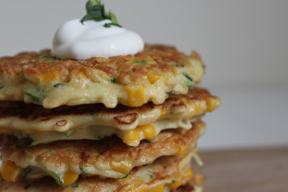 pumpkin and sweetcorn fritters