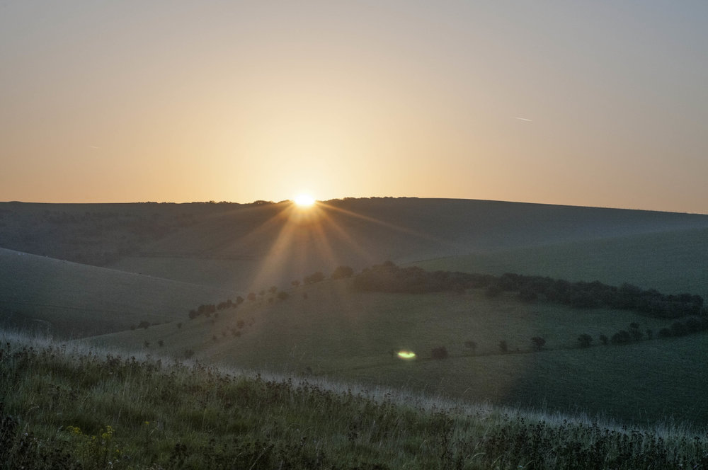 Sunrise on South Downs